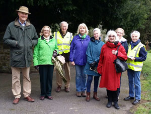 Town Trail group in Bampton