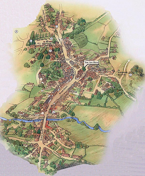The new Bampton Town Map