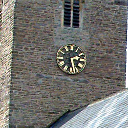 Church clock dial