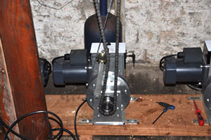 Church clock winding motors