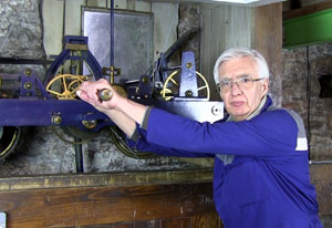 Winding the church clock by hand