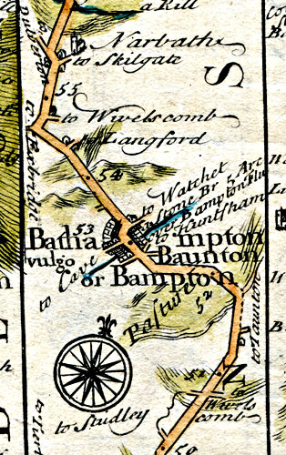 Turnpike Map 1720