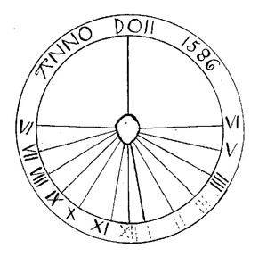 DRawing of the old sundial