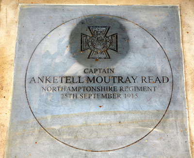War memorial slab AM REad