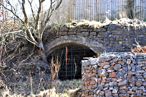 The old lime kiln at Scotts