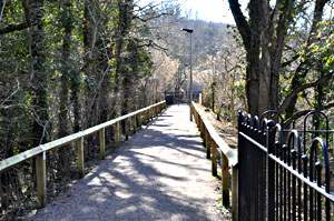 Pathway along the old railway line to the quarries