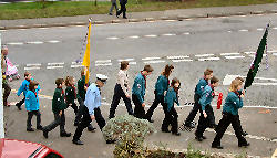 Young people taking part in rememberance 2004