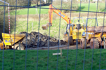 Big playground is reduced to rubble
