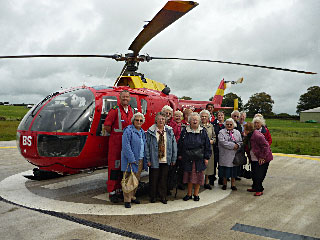 Shillingford Ladies Guild and the Devon Air Ambulance