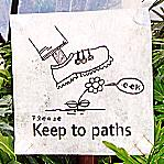 Keep to the paths!
