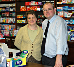 Anna and Neil, Bampton pharmacists