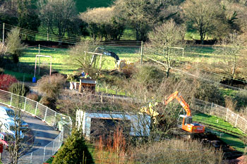 The diggers move in January 2007