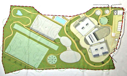 Site plan of the new school