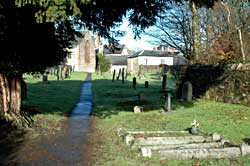 Path through the churchyard